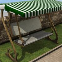 3ds max seater garden hammock
