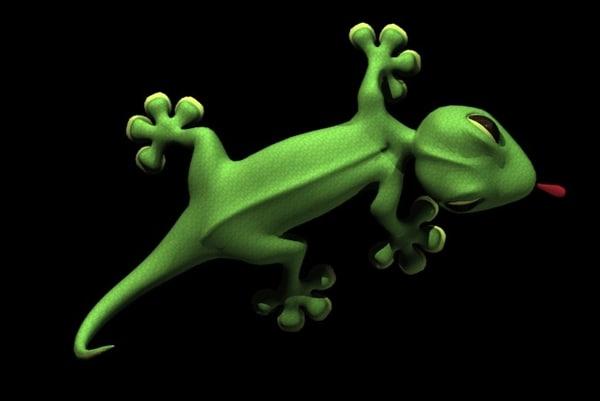3d gecko scene