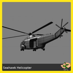 3d model transport helicopter