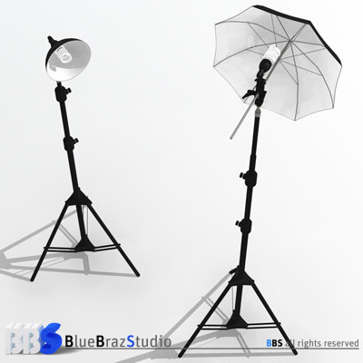 light umbrella lamp holder 3d model