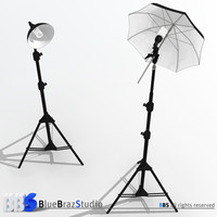 light umbrella lamp holder 3d model
