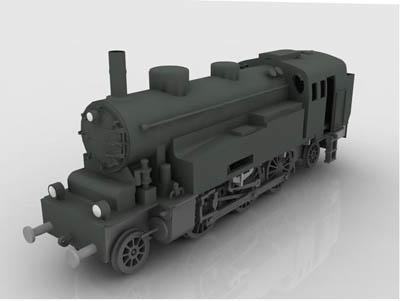 german locomotive ww2 3d model
