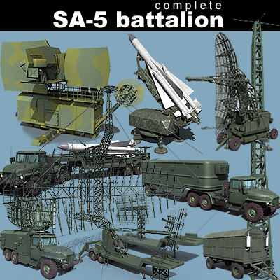 Max Sa 5 Battalion Missile: 3d model sites