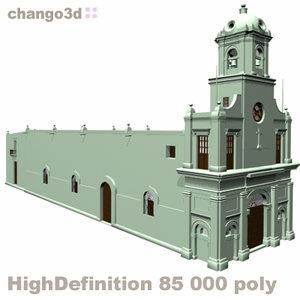 3d model of la iglesia santa teresita