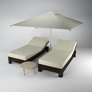 pool furniture 3ds