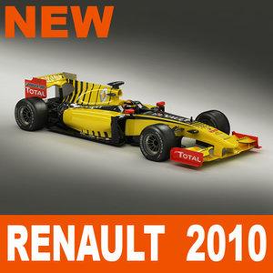 3d model renault f1 2010