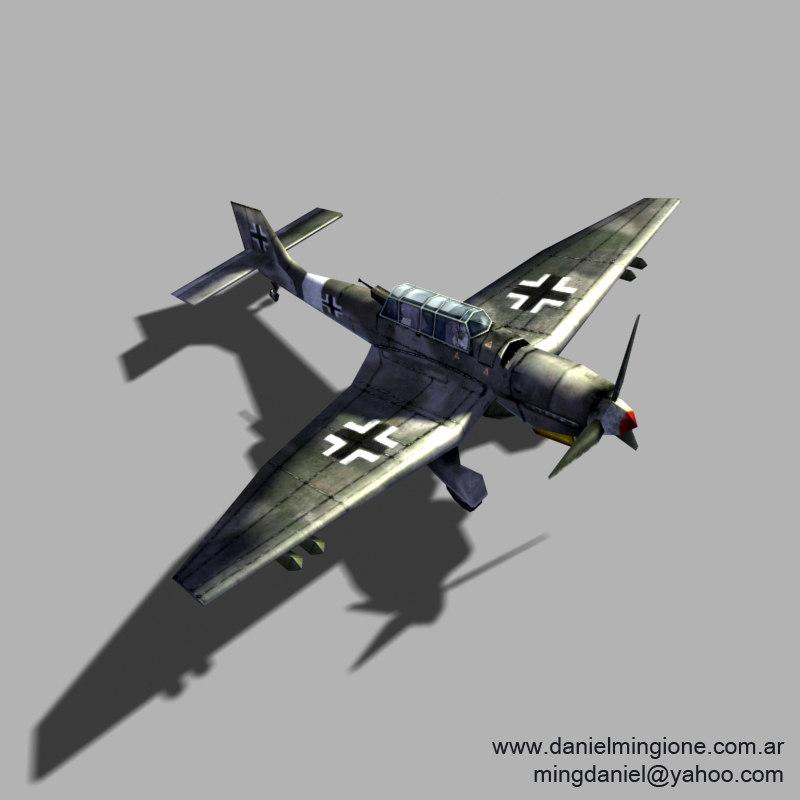 3ds max german stuka fighter
