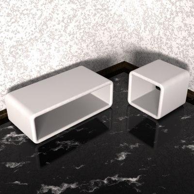 glassfiber couchtables 3d model
