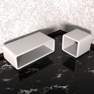 glassfiber couchtables 3d model