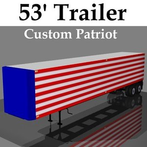 3d model 53ft trailer semi