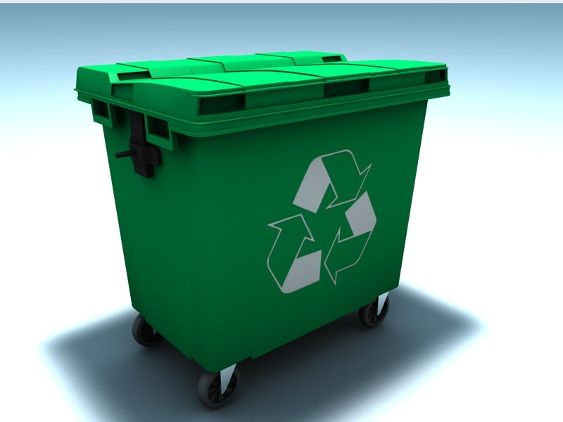 3d trash container