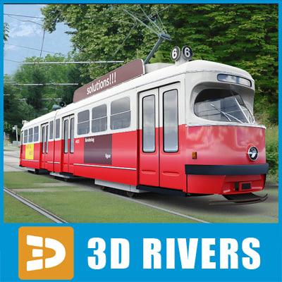 old tram tramways 3d max