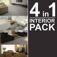 interior scenes pack 3d model