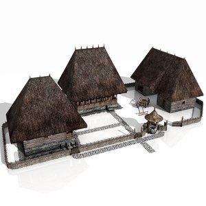 rustic household xvi century 3d model