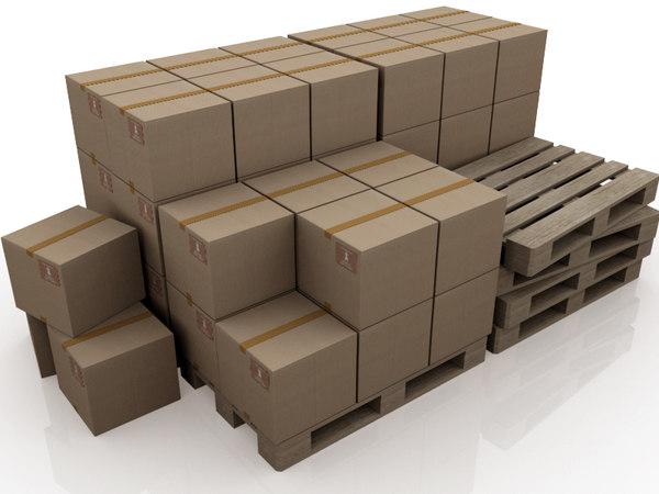 3d palette boxes