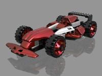 f1 lego car 3d model