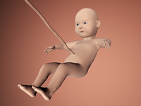 baby boy kid foetus 3d model