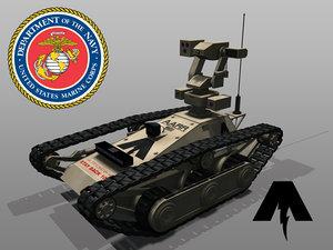 armed autonomous remote rover 3d model