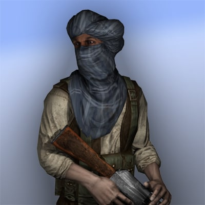 3d model taliban fighter