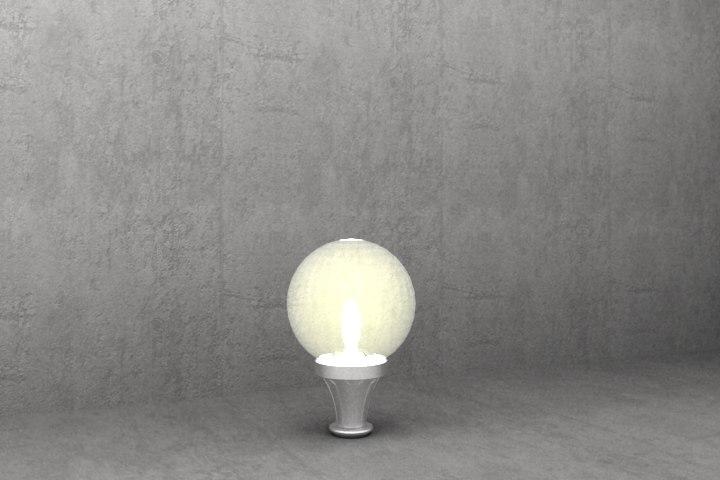 3d model antique luminaire s16
