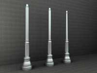 3d antique street lamp model