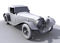 3d vintage car model