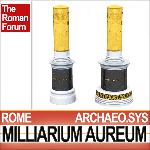 3ds max scientifically roman milliarium aureum