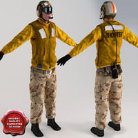 aviation boatswain v5 t-pose 3d max