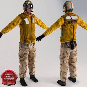 aviation boatswain v5 t-pose 3d max