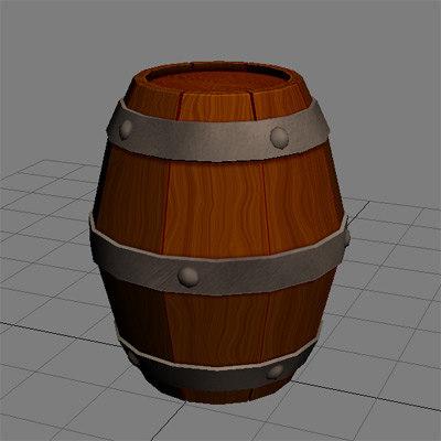 barrel prop 3d obj
