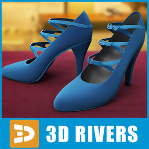 blue heels 3d model