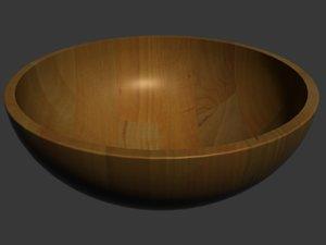 wooden bowl 3d model