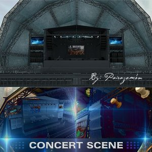 stage concert structure 3d max