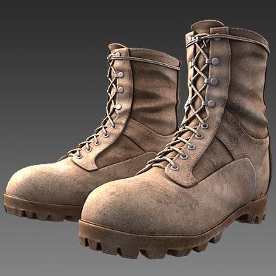 military boots 3D Models | TurboSquid.com