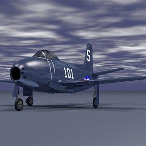 3d model fj1 jet fighter