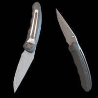 3ds max folding pocket knife