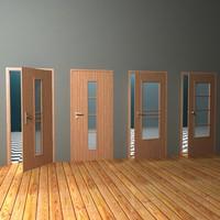 3d door handles model