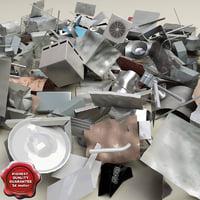 3ds max metall debris