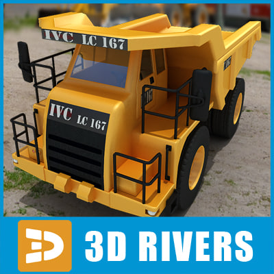 truck industrial vehicles 3ds
