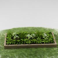 garden plants 3d max