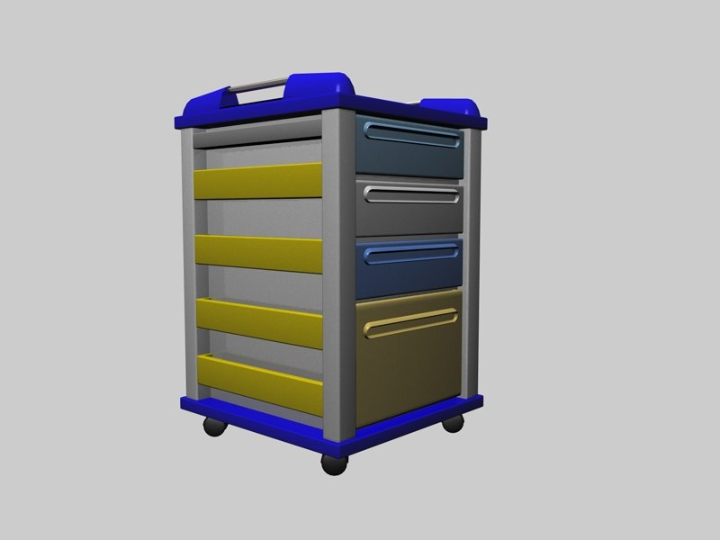 3d hospital container model
