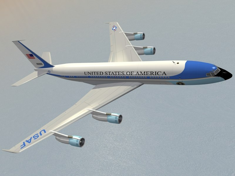 3d b 707-300 air force model