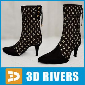 woman women shoes 3d model