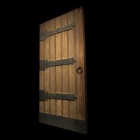 3d medieval door model