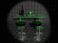 3d bar table