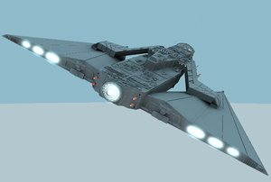batwingcruiser unknown space 3d lwo