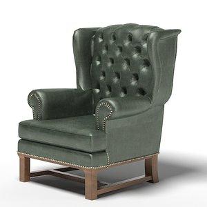 classic armchair chair 3d model