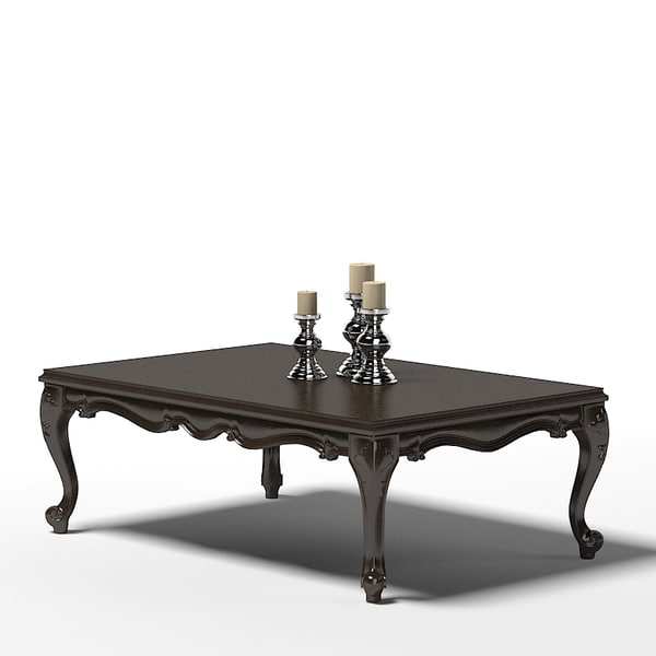 3d classic cocktail table