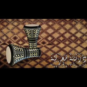 3d model maghreb drum derbuka
