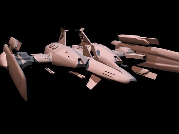 space fighter 3d max